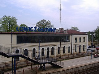 railway station in Łowicz, Poland
