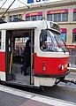 Želivského, řidička tramvaje v zácviku.jpg
