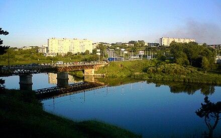 Вид на Байновский мост и