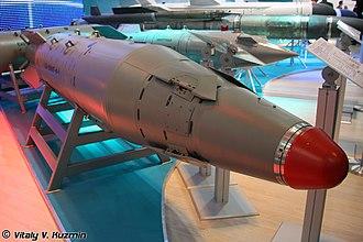 KAB-1500L - Image: Корректируемая авиационная бомба КАБ–1500ЛГ Ф Э с фугасной боевой частью МАКС 2009 01
