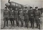 Лётчики 111 Сталинградского гв.иап. Третий справа - П.А.Гнидо (1945 г.).jpg