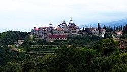 Скит Светог Андреја у Кареји - panoramio.jpg