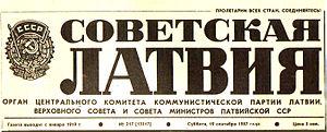 Sovetskaya Latviya