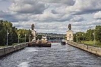 Шлюз №3 Яхрома. Буксир Речной-43 и катер ВБ-3.jpg