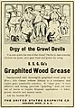"""""""Orgy of the Growl Devils """" """"Graphited Wood Grease"""" 1908 ad - Electric railway review (IA electricrailwayr19amer) (page 50 crop).jpg"""