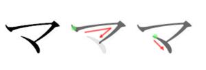 Ma (kana) - Stroke order in writing マ