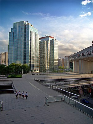Zhongguancun - The southwest landscape of Zhongguan plaza.