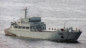 Type 074-class landing ship - Image: 駐港部隊艦艇大隊 7593登陸艇