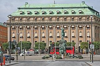 Gustav Adolfs torg, Stockholm square in central Stockholm, Sweden