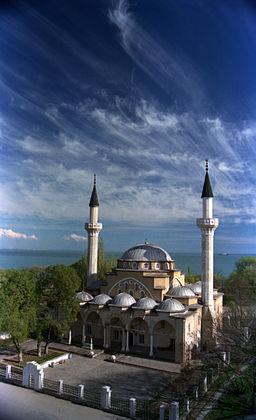 Мечеть Джума-Джамі (пам'ятка архітектури національного значення, Євпаторія) Фото: Eugenmakh, CC-BY-SA-3.0, 2 місце фотоконкурсу «Вікі любить пам'ятки 2013»