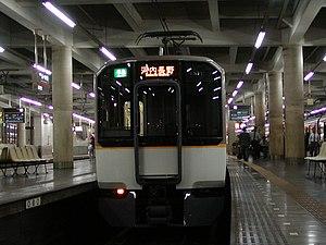 Minami Osaka Line - Kintetsu 6820 series EMU at Osaka Abenobashi Station on a semi-express service for Kawachi-Nagano