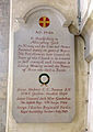 031 Stoke Rochford Ss Andrew & Mary, interior - tower arch restoration plaque.jpg