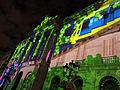 047 Llum BCN, projecció a la façana de l'Ajuntament, pl. Sant Jaume.JPG