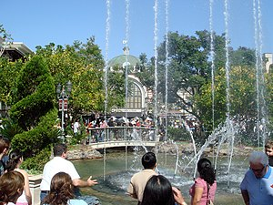 The Grove at Farmers Market - The animated fountains at The Grove