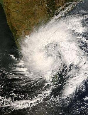 Cyclone Nisha (2008) - Image: 06B (Nisha) 26 November 2008 at 0525 UTC