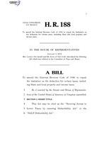 116th United States Congress H. R. 0000188 (1st session) - SALT Deductibility Act.pdf
