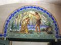 129 Església de Santa Maria, timpà del baptisteri.jpg