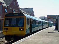 Arriva Trains Wales refurbished 142077 at Penarth