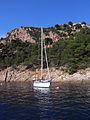142 Cala Pola (Tossa de Mar), vaixell.JPG