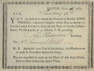 English: Boston, May [11], 1783. 11th ... desi...