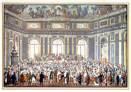 "The 1808 performance of ""The Creation"" in honour of Haydn; reproduction of a stationery box lid painted in watercolours by Balthazar Wigand. Click to enlarge. 1808PerformanceOfHaydnCreation.jpg"