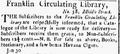 1809 FranklinCirculatingLibrary MiddleSt BostonGazette Feb6.png
