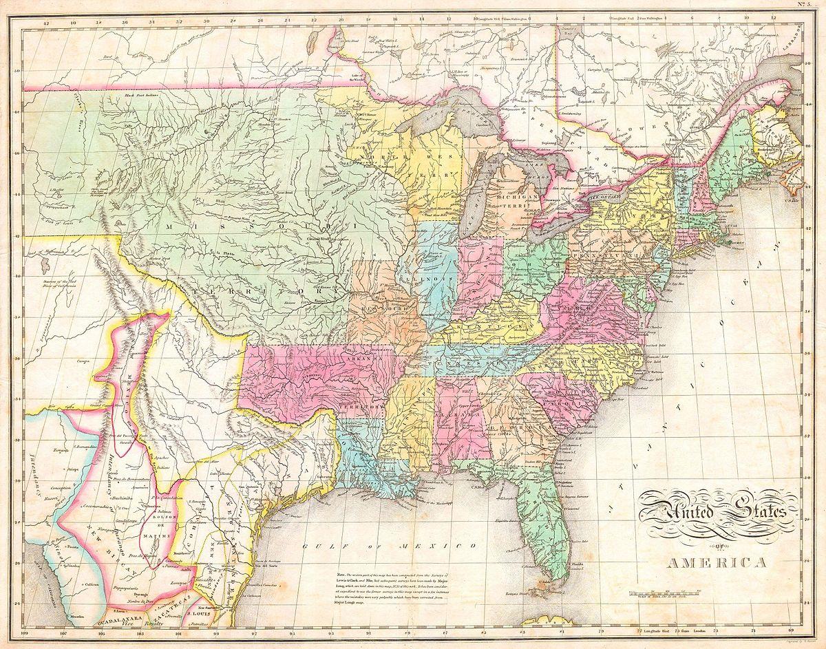 John Melish Wikipedia - Map of us 1806