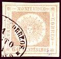 1860 Uruguay 60c gris-lilas Yv12A.jpg
