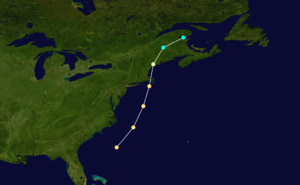 1869 Saxby Gale - Image: 1869 New England hurricane track