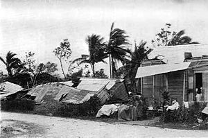 1899 San Ciriaco hurricane - Damage in Puerto Rico after Hurricane San Ciriaco.
