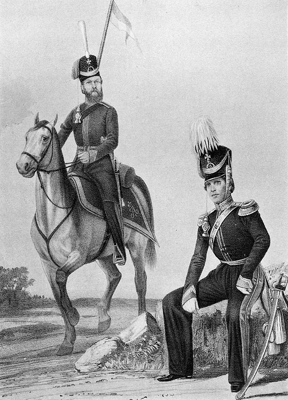 18 2552 Book illustrations of Historical description of the clothes and weapons of Russian troops