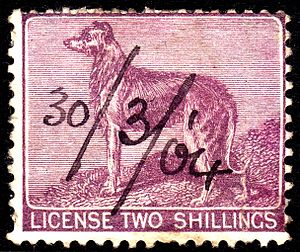 Die (philately) - The stamp produced using the above die used in 1904.
