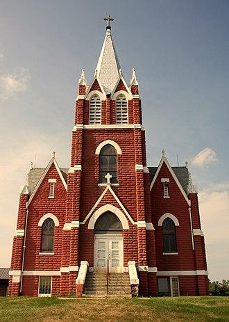 "Baldwin, Wisconsin - Landmark 1905 ""Red Church"" just outside Baldwin"