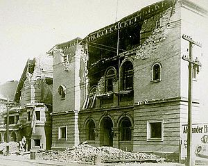 Peoples Temple in San Francisco - The building on Geary Blvd after the 1906 earthquake.