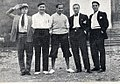 1931–32 FBC Juventus - Cesarini, Sernagiotto, Combi, Caligaris and Maglio.jpg