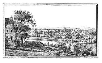 Mureck - 193 Markt Mureck - gez. Wonsidler, Lith. v. Folwarczni - J.F.Kaiser Lithografirte Ansichten der Steiermark 1830