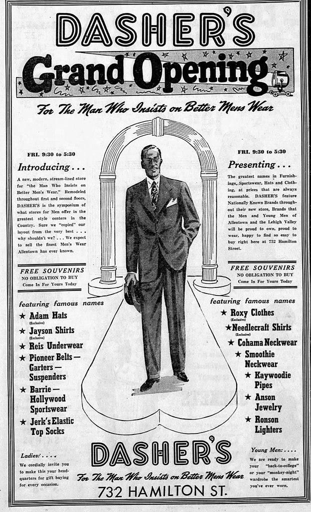 File:1948 - Dashers Mens Store - Opening - 10 Sep MC