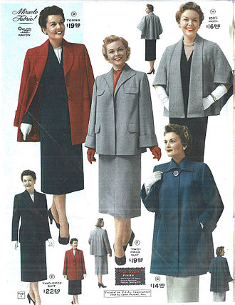 Plus-size model - A page from the Lane Bryant Spring/Summer 1954 catalog.