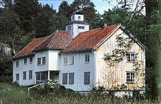 Veøya - The vicar's residence in 1967