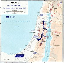 Grafico dell'attacco israeliano il 5 giugno in Cisgiordania