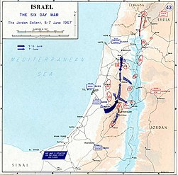 1967 Six Day War - The Jordan salient.jpg