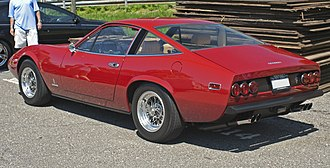 Ferrari 365 GTC/4 - Rear view of a US-specification 1972 365 GTC/4