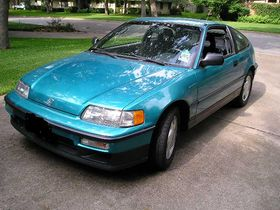 Good 1991 Honda CRX Si In Tahitian Green