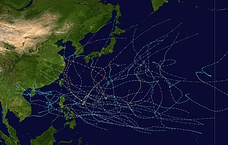 1994 Pacific typhoon season - Image: 1994 Pacific typhoon season summary