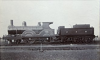 GER Class T19 - Oil-burning T19 No. 760 named Petrolea. The name was removed when it was rebuilt circa 1902–1904