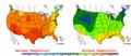 2002-09-01 Color Max-min Temperature Map NOAA.png