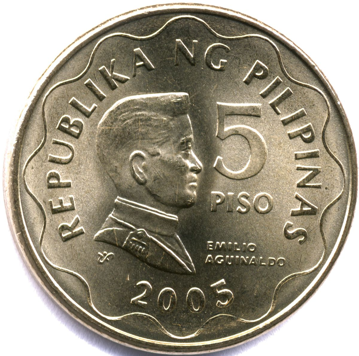 Philippine five peso coin - Wikipedia