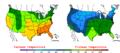 2007-03-24 Color Max-min Temperature Map NOAA.png