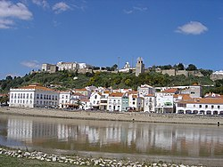 Alcácer do Sal, along the Sado River, showing the Reconquista Moorish Castle