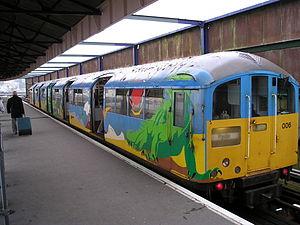 Island Line (train operating company) - Island Line train in dinosaur livery